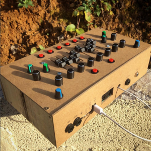 Picture of the Axoloti Box #2, built for mescalibur